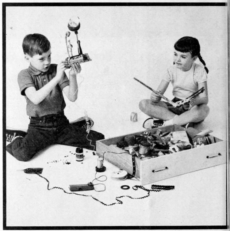 New wonders from old junk for bored kids - ideas from the 1960s