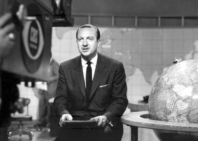 News reporter Walter Cronkite 1960s