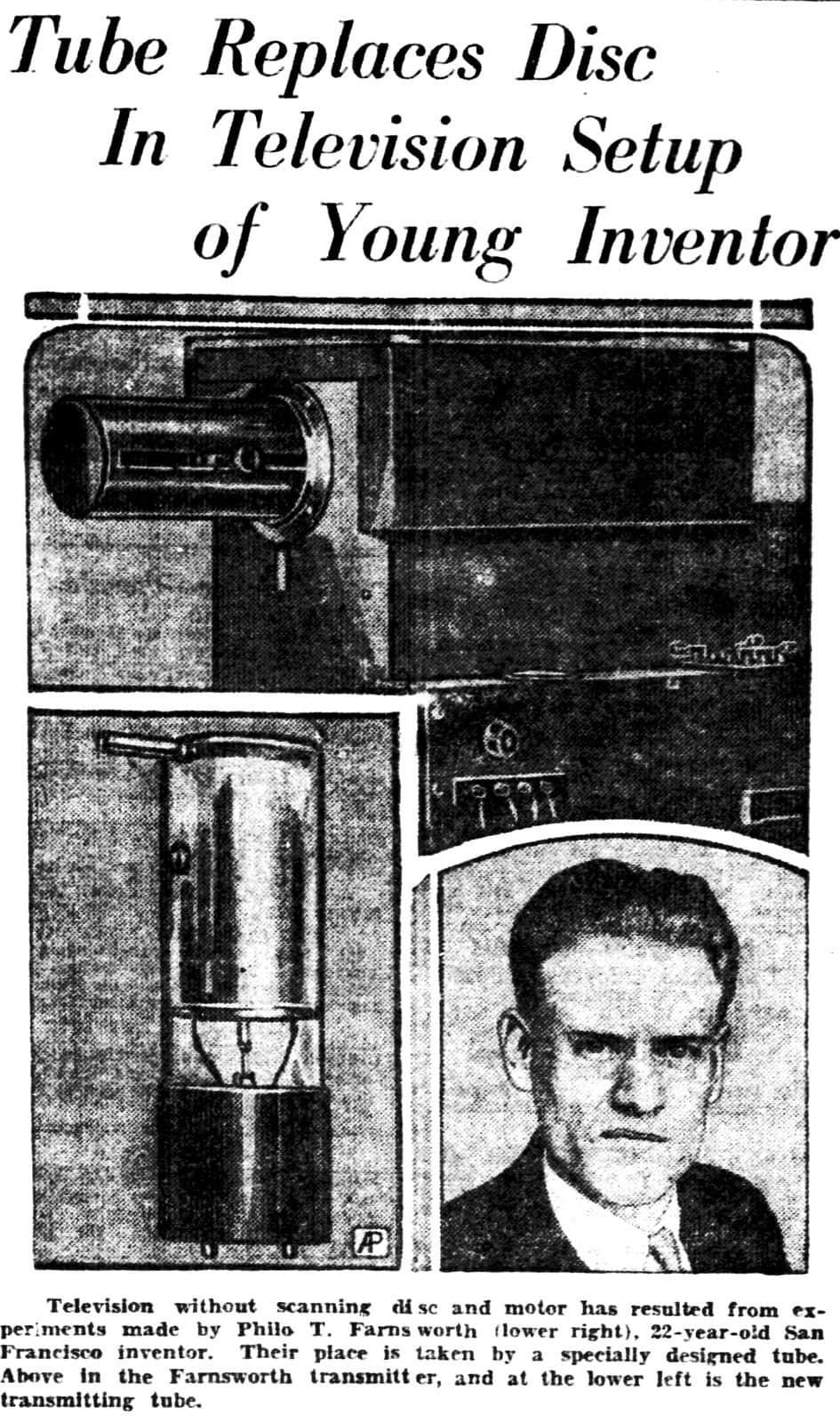News story - Philo Farnsworth (1928)