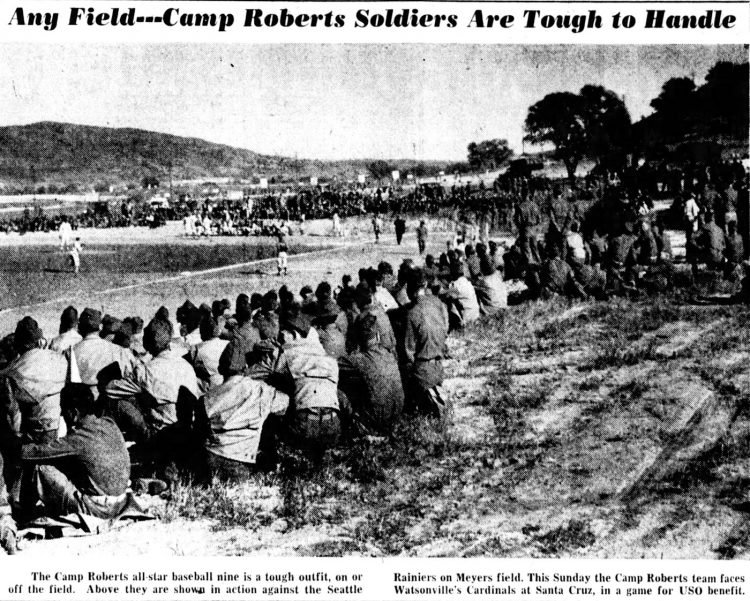 Newspaper photos oc Camp Roberts military training in 1942 (1)