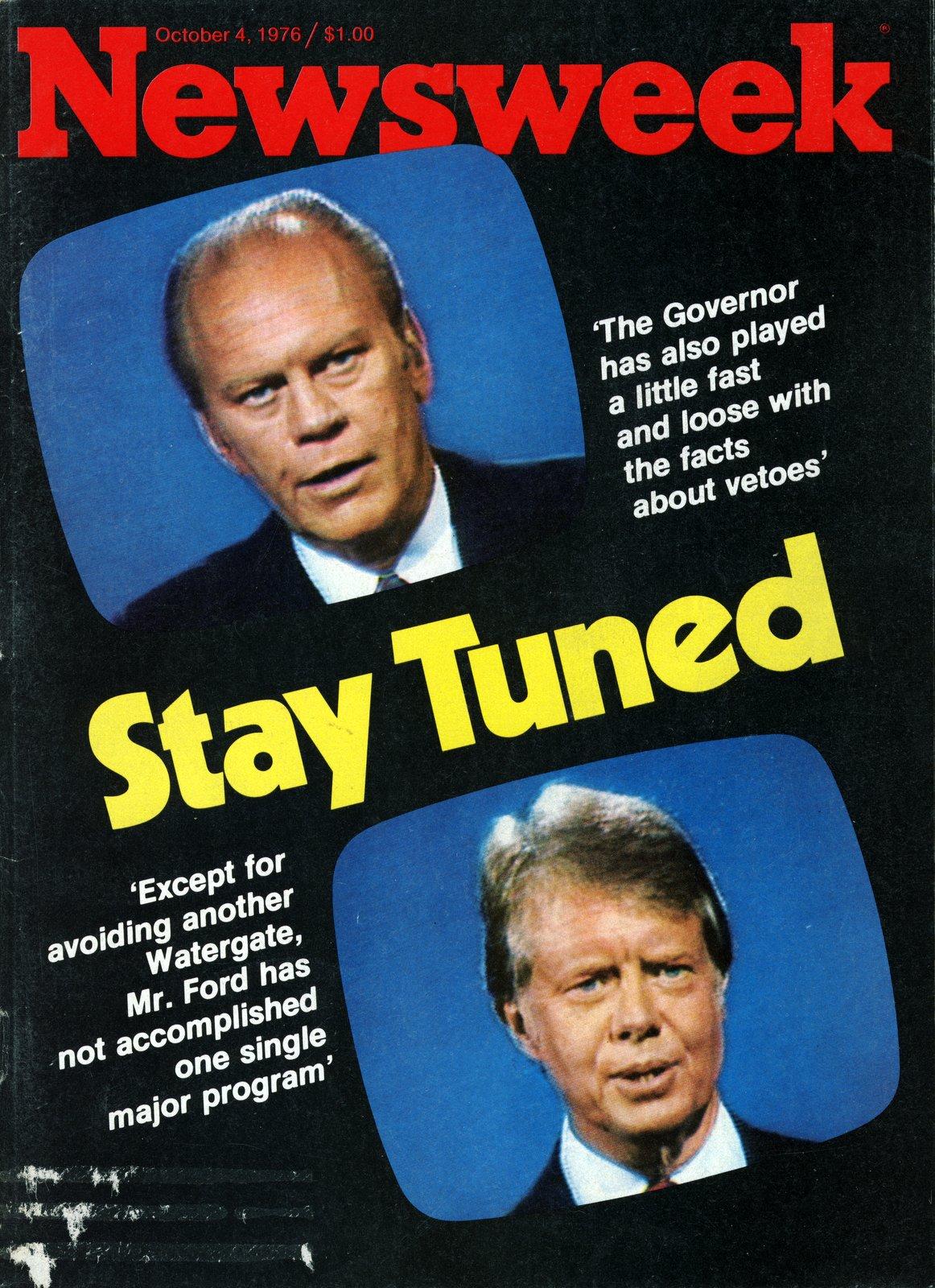 Newsweek October 4 1976 - Ford Carter presidential debates