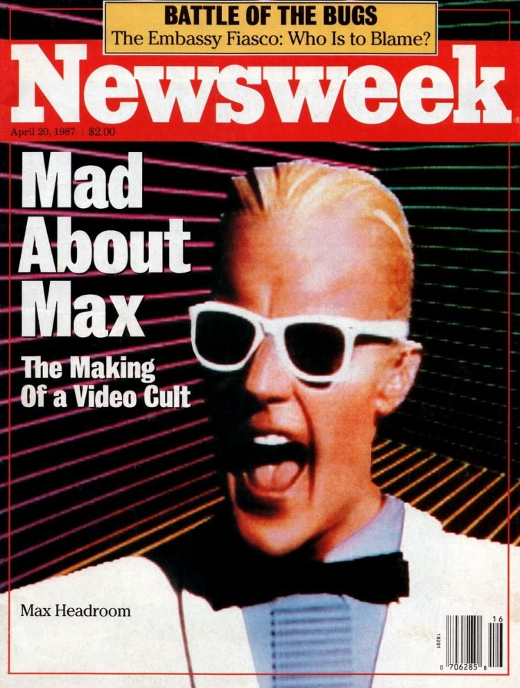 Newsweek cover Mad about Max Headroom April 1987