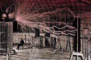 Nikola Tesla - Colorado laboratory 1899
