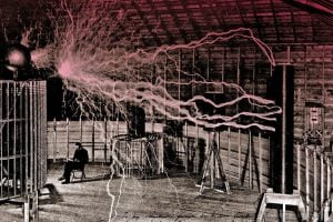 Nikola Tesla - Colorado laboratory 1899
