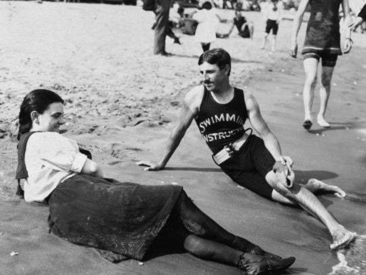 Nikola Tesla at the beach