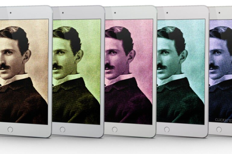 Nikola Tesla on an iPad - Click Americana