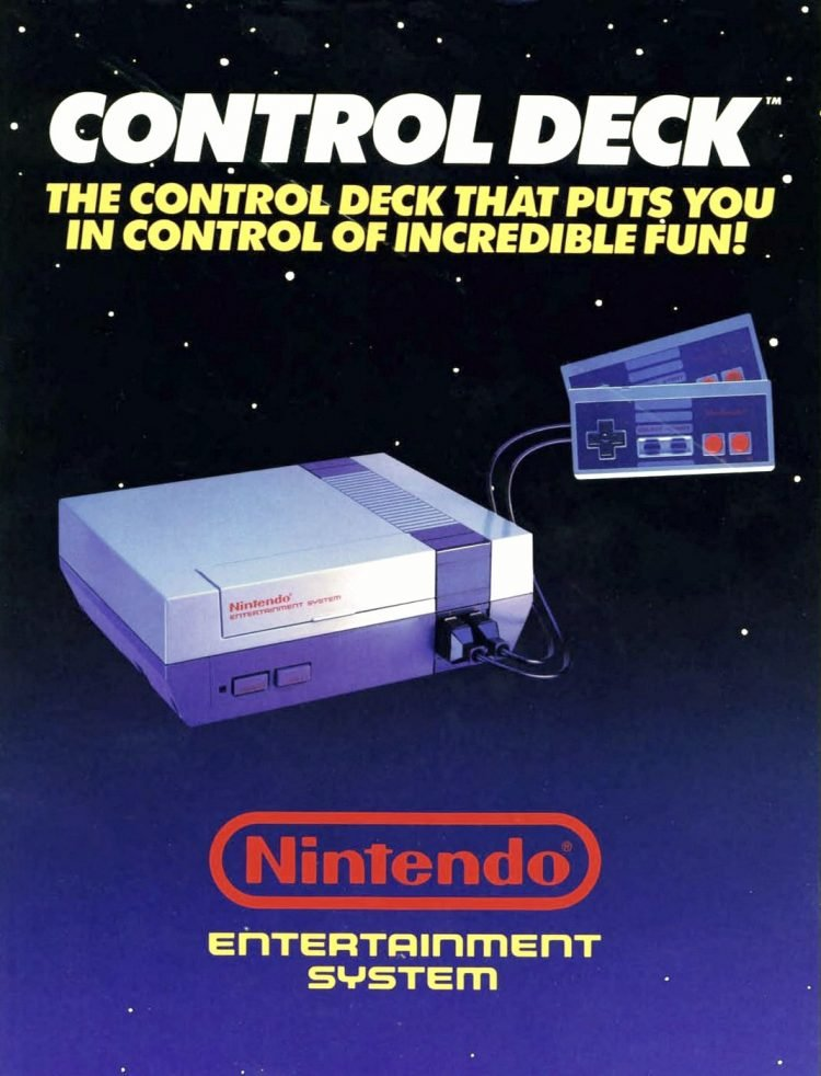Nintendo Entertainment System NES Control Deck - 1986