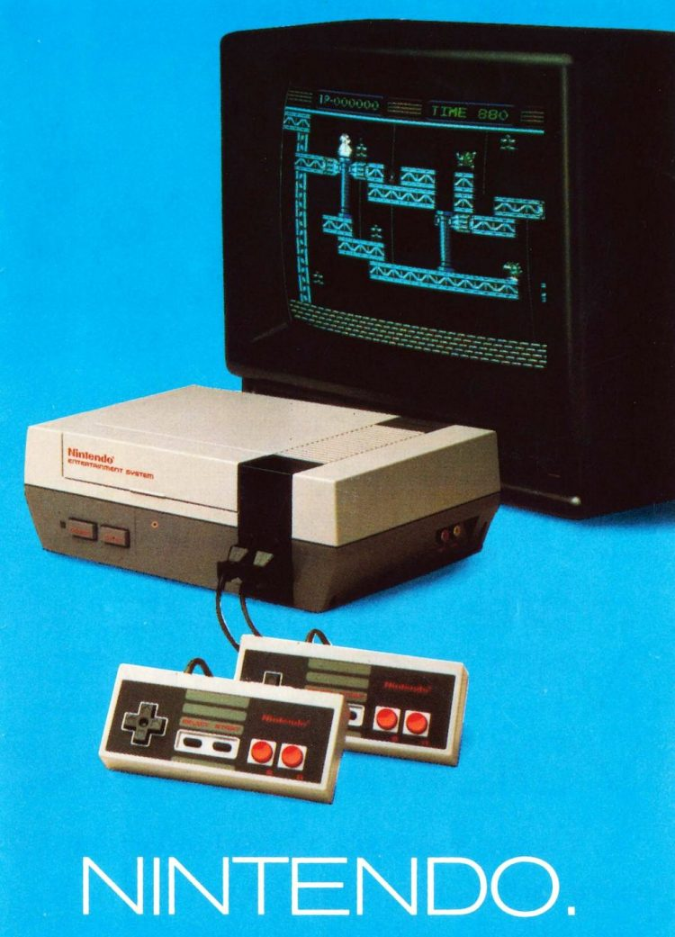Nintendo Entertainment System NES system brochure 1987