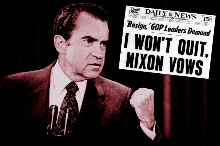 Nixon Watergate - Refuses to quit