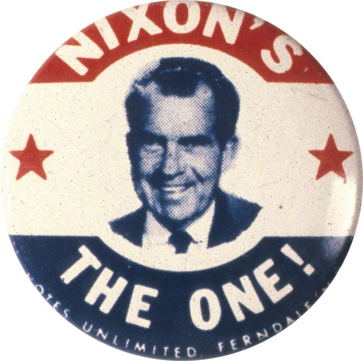 Nixon election pin