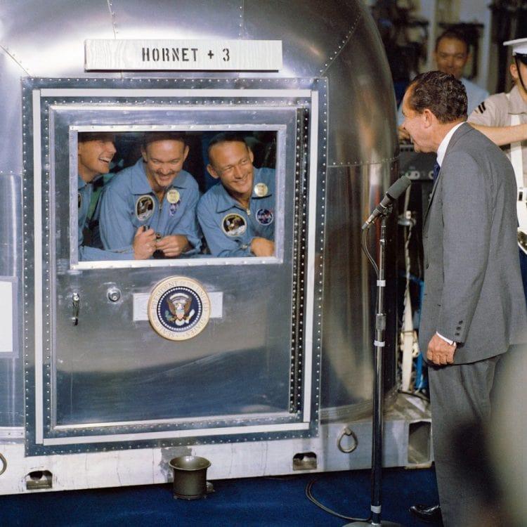 Nixon greets Apollo 11 astronauts