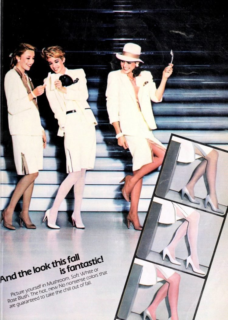 Vintage '80s pantyhose - No-Nonsense nylons in colors from 1985