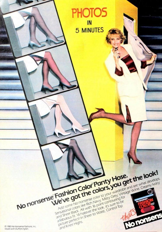No-nonsense fashion color panty hose 1985