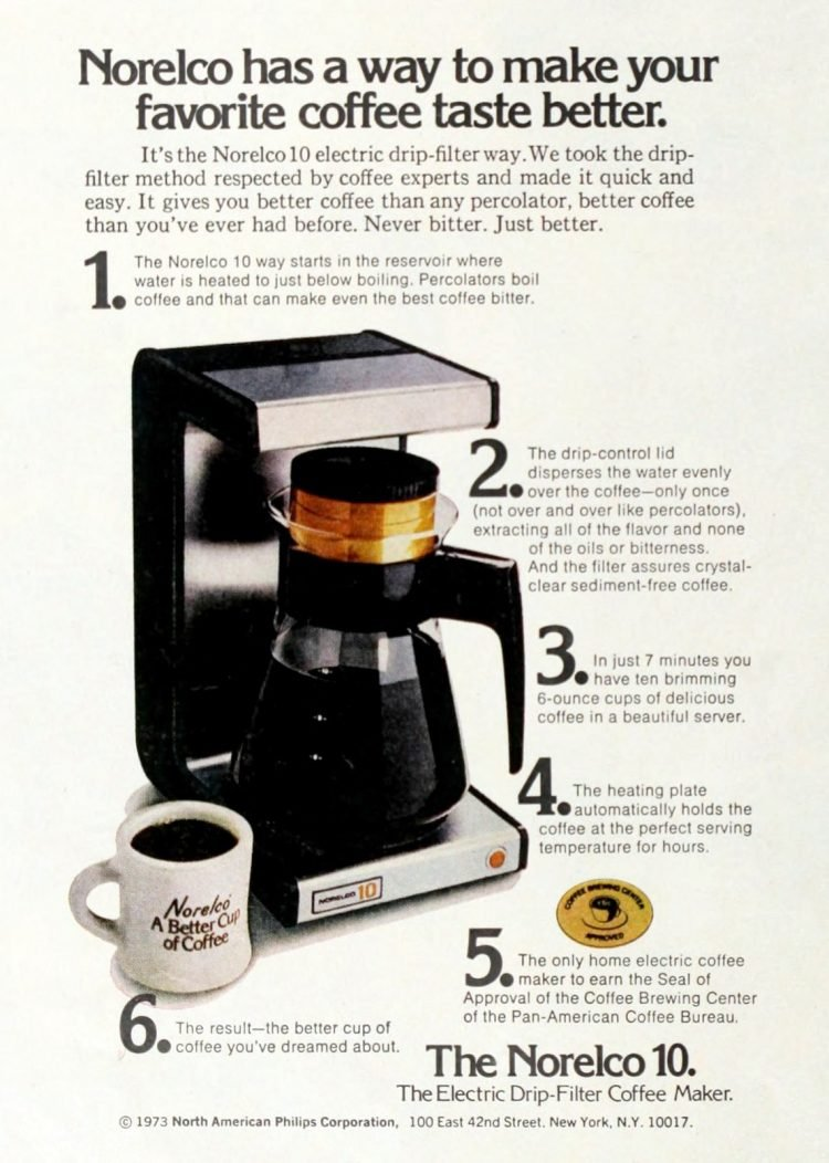 Norelco coffee maker - The Norelco 10 (1973)