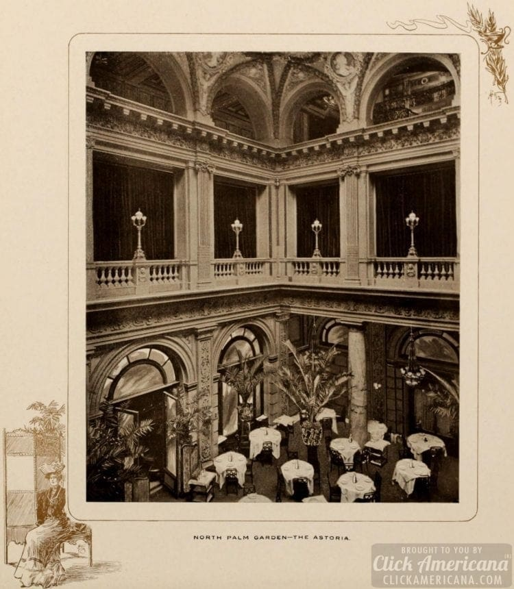 North Palm Garden - Astoria Hotel NYC 1903