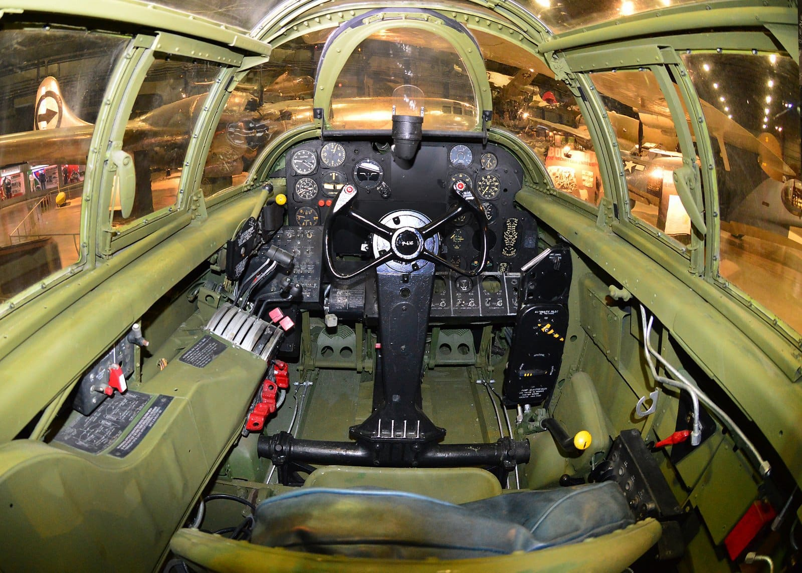 Northrop P-61C Black Widow cockpit (U.S. Air Force photo)