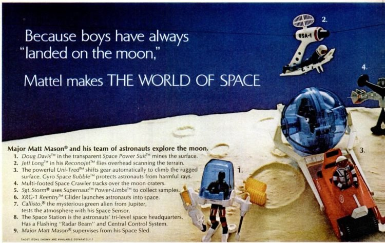Nov 14, 1969 Mattel space toys and cowboys