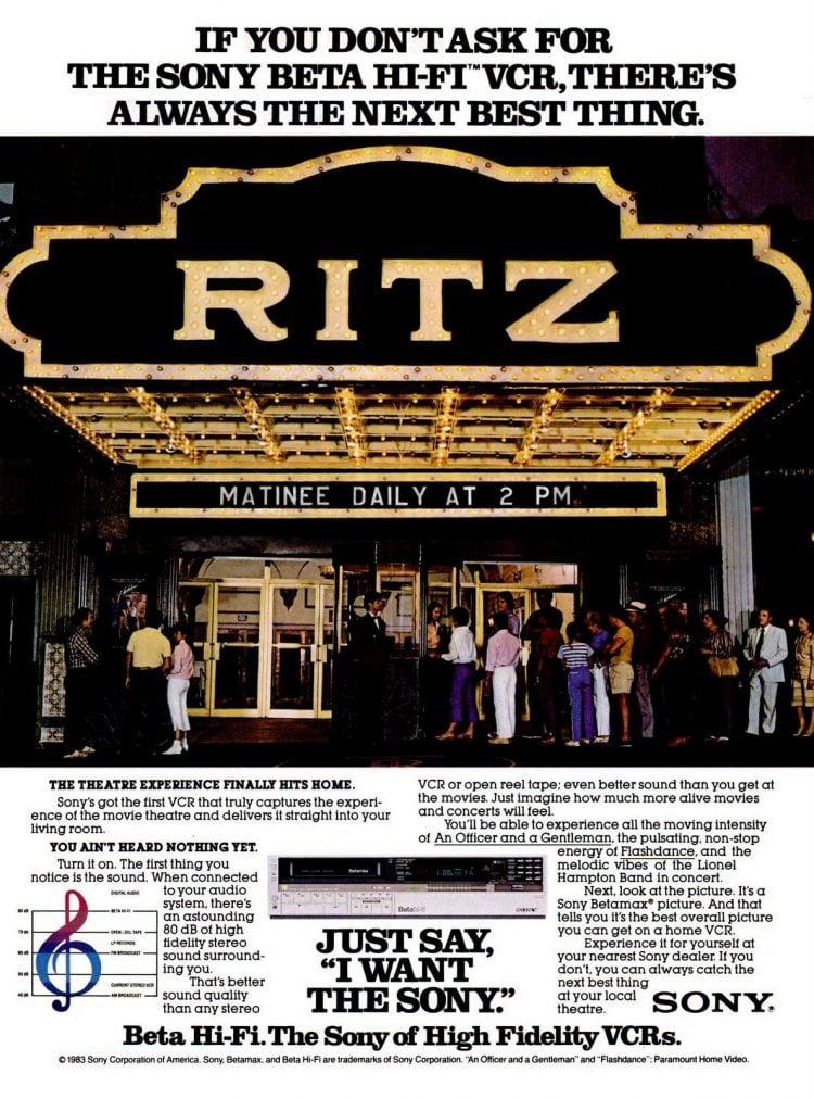 Nov 14, 1983 Sony Betamax - Theater