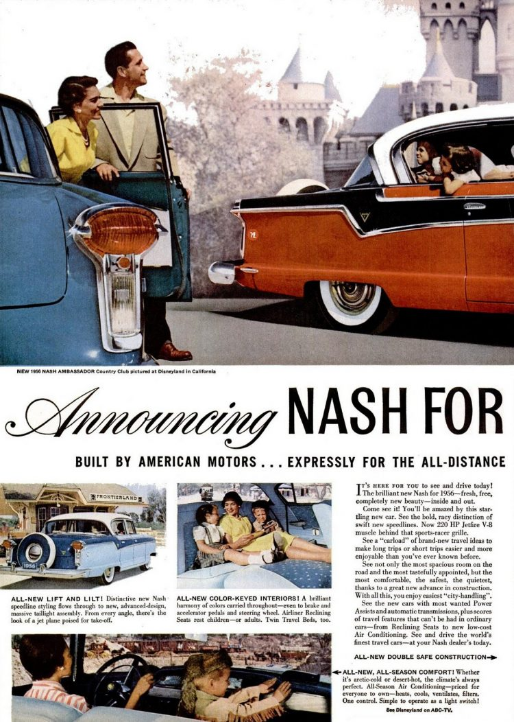 Nov 1955 Classic Nash Ambassador cars in Disneyland (1)