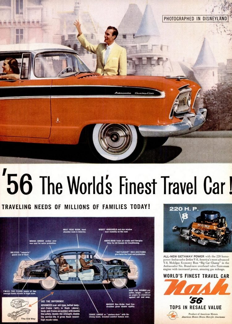 Nov 1955 Classic Nash Ambassador cars in Disneyland (4)