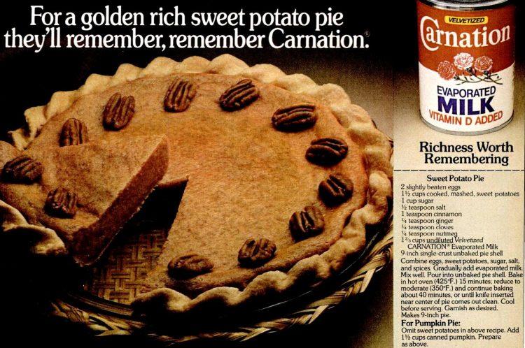 Nov 1979 Sweet potato pie thanksgiving