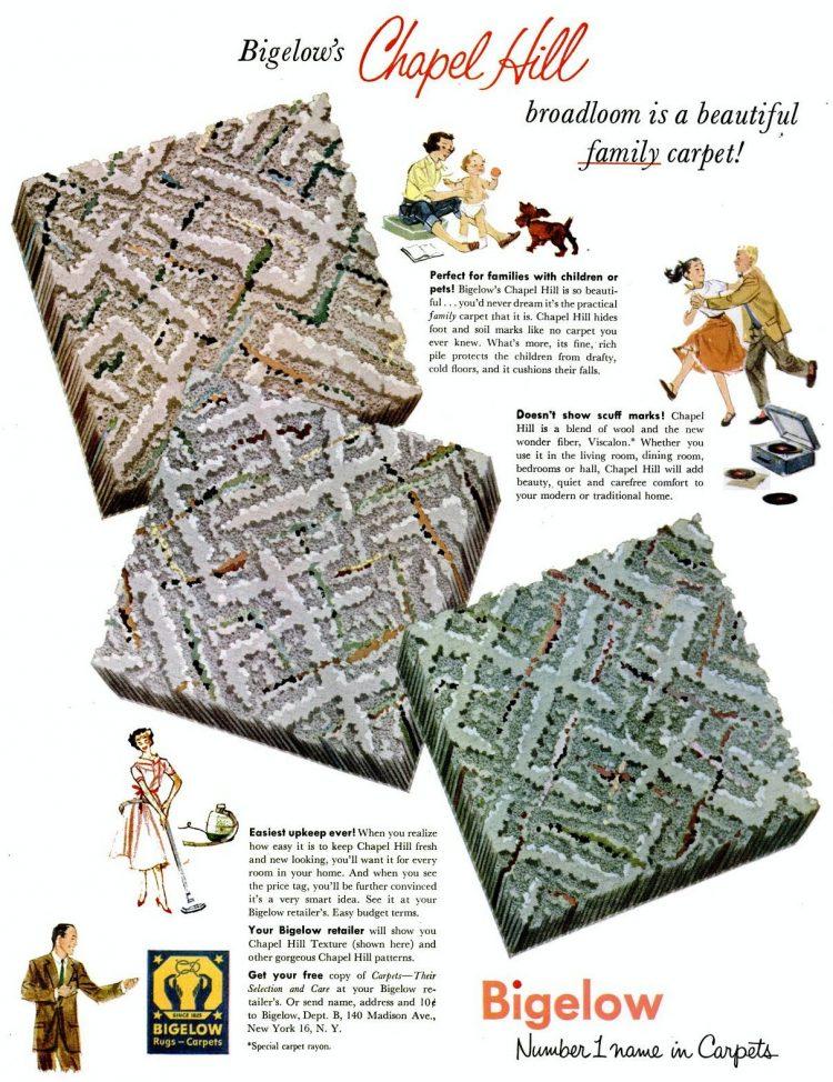 1954 Home carpet