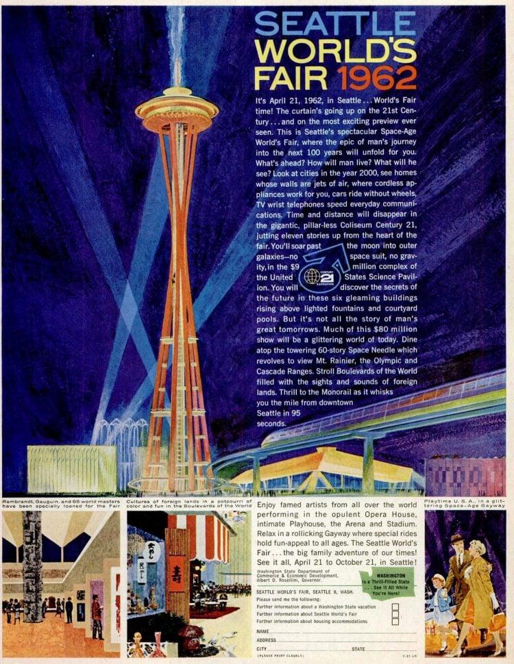Nov 24, 1961 Seattle tourism - Space Needle World's Fair 1962