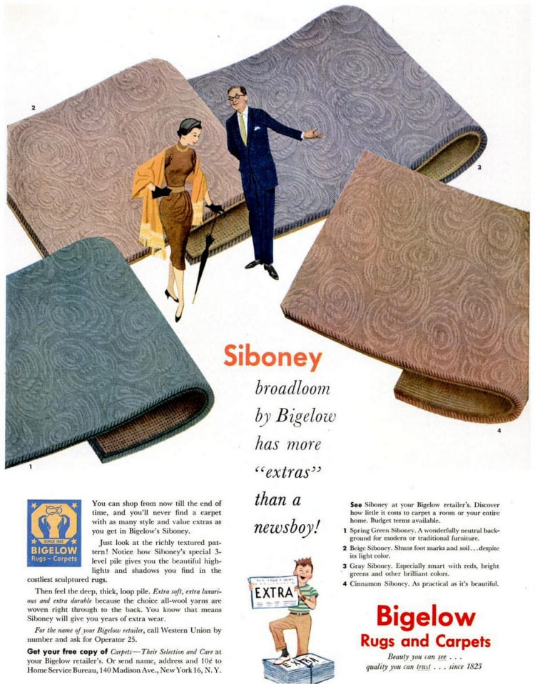 Nov 9, 1953 home decor vintage carpet