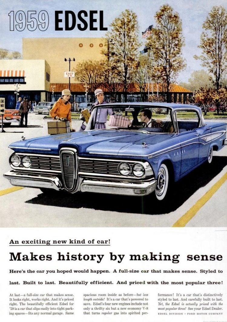 November 1958 ad for 1959 Ford Edsel car