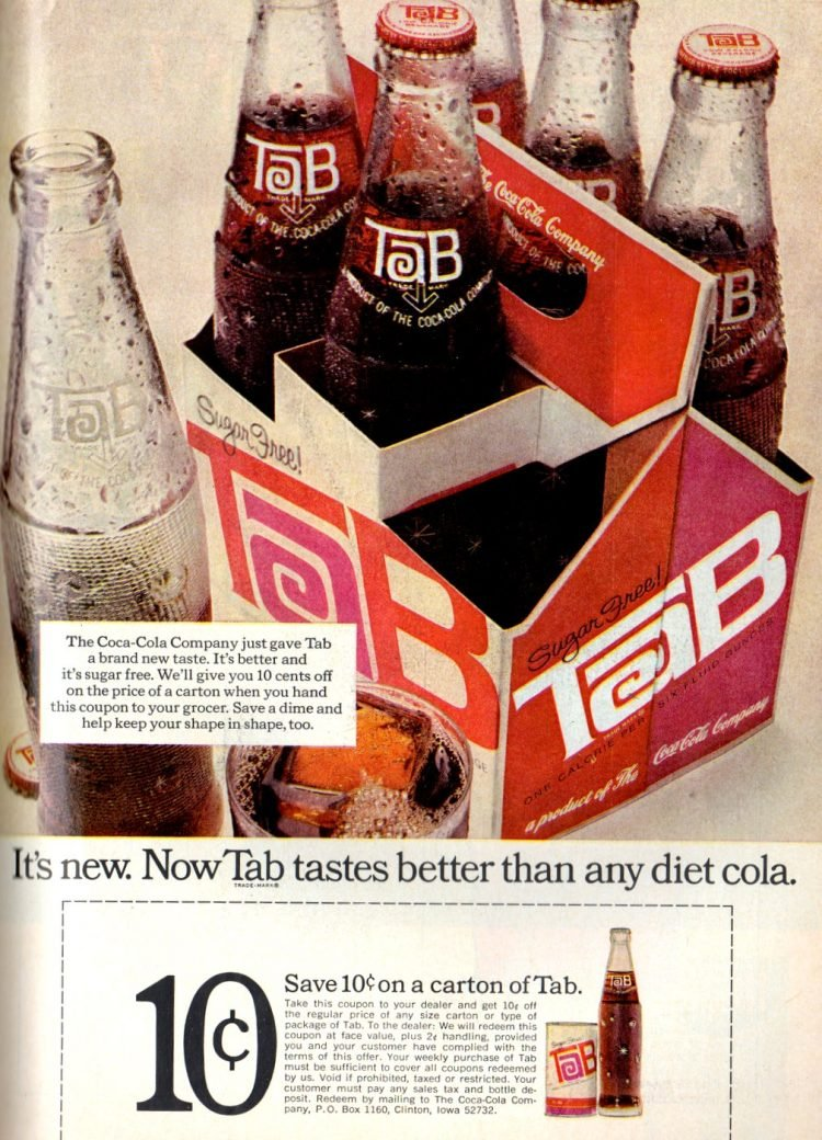 Now Tab tastes better than any diet cola - 1968