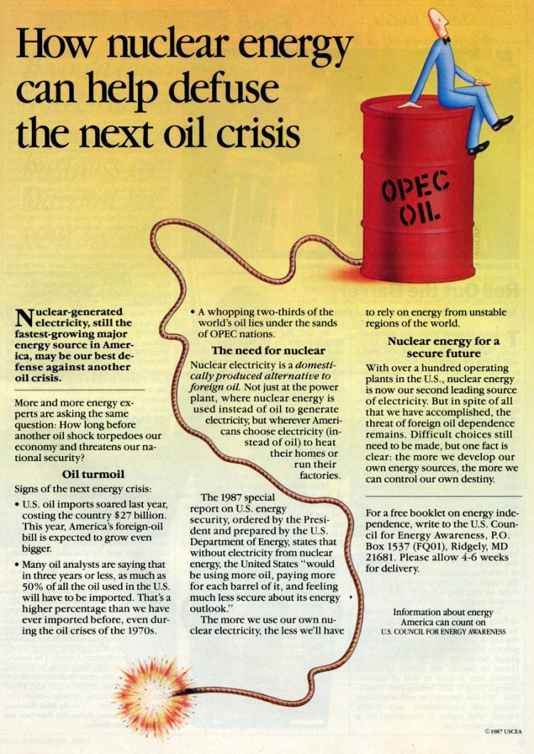 Nuclear energy can defuse the next oil crisis-1987