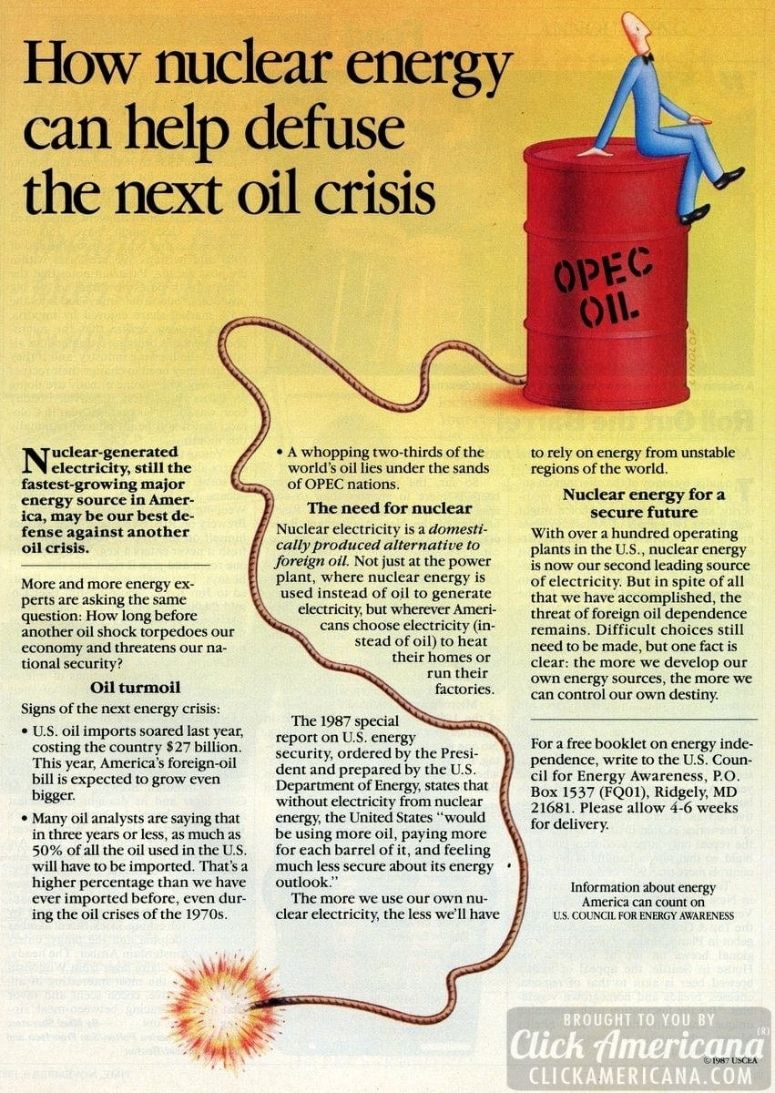 How nuclear energy can defuse the next oil crisis (1987)