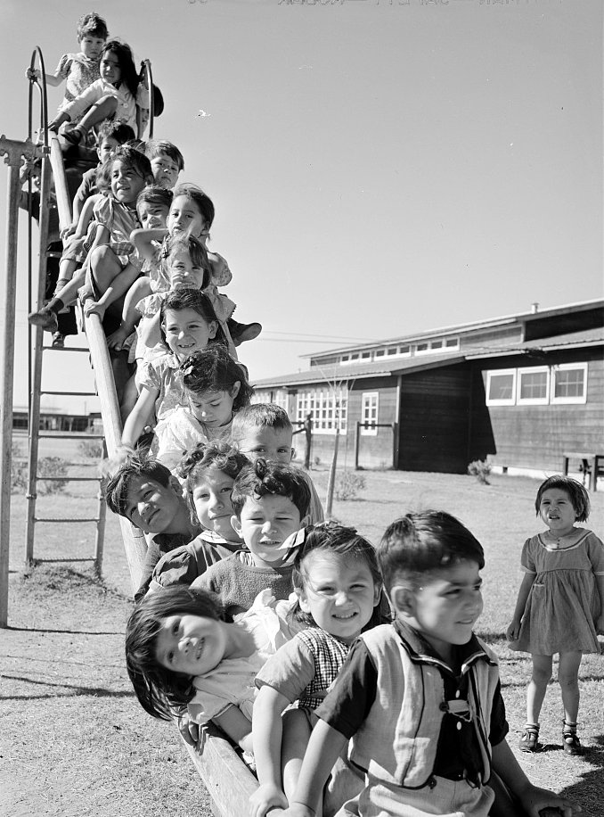 Nursery school playground. Robstown camp, Texas 1942