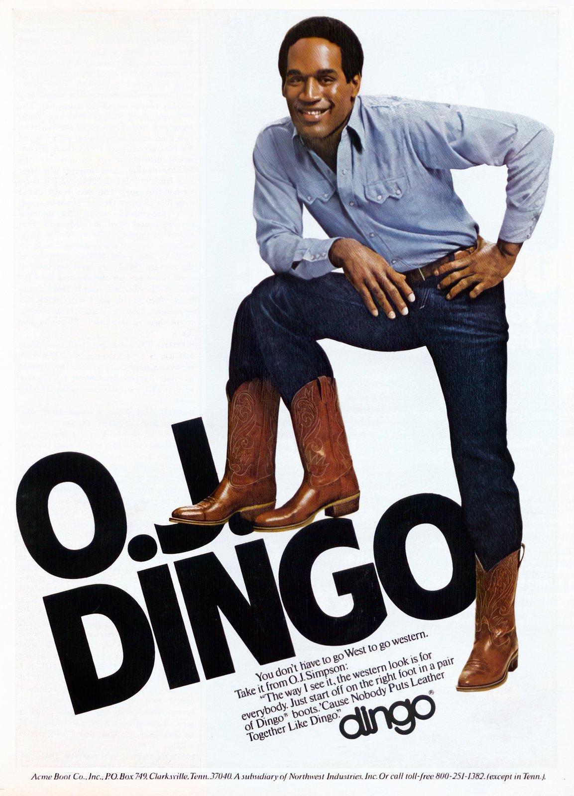 OJ Simpson for Dingo boots