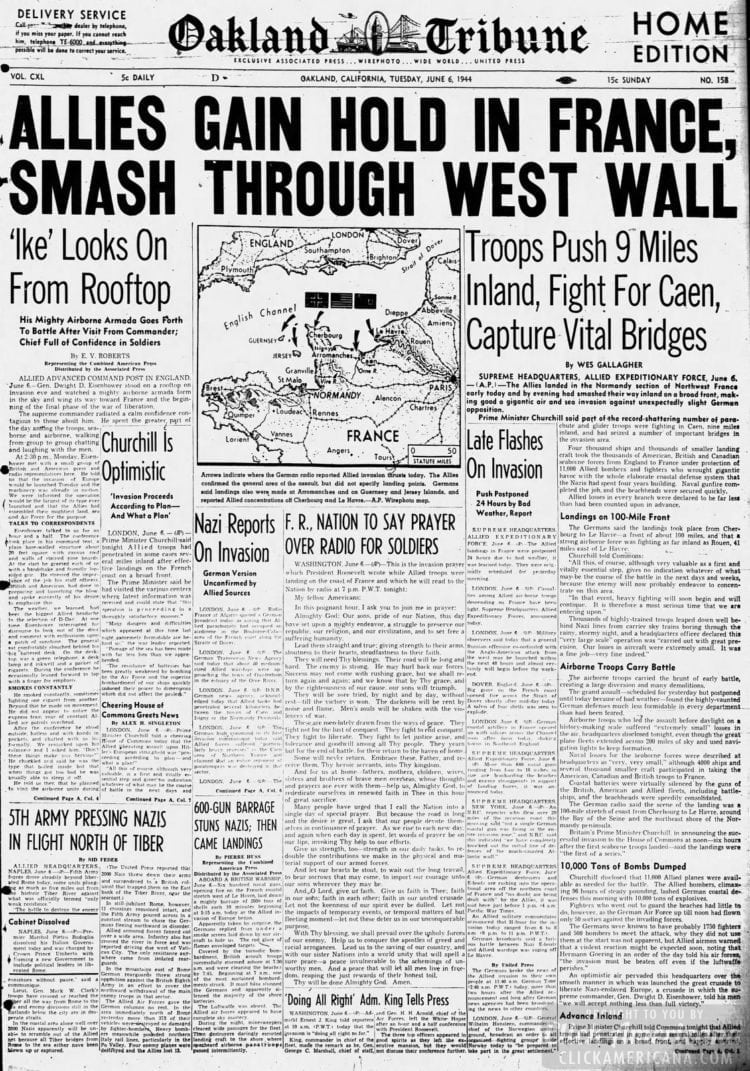 Allies Gain Hold in France - Smash Through West Wall