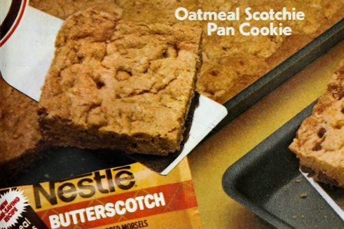 Oatmeal Scotchie bar cookies (1982)