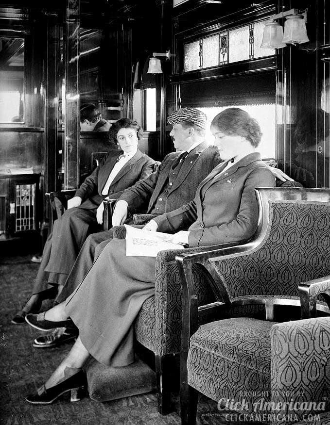 Observation car - See inside vintage train cars