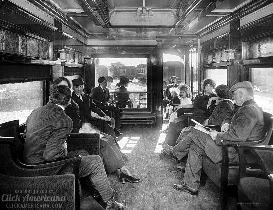 Observation car - Inside vintage train cars