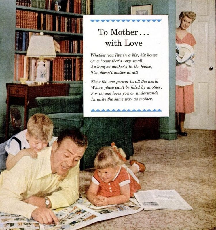 Oct 12, 1953 Family housewife home cleaning