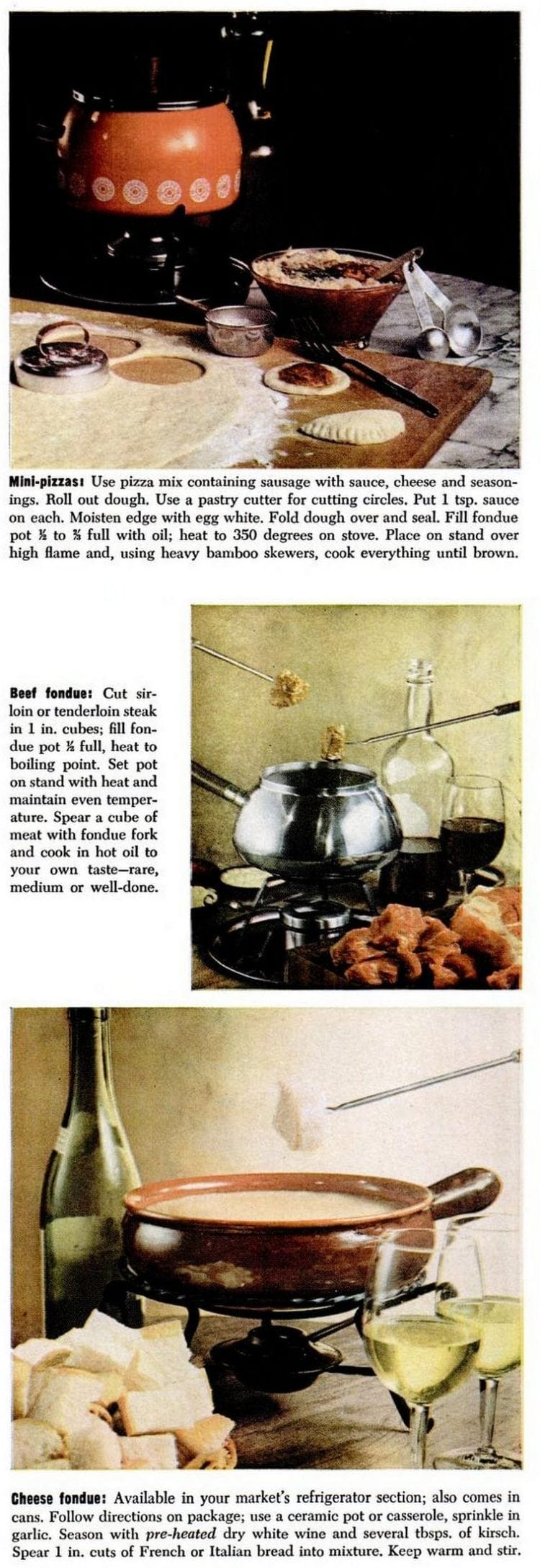 Retro fondue from 1969