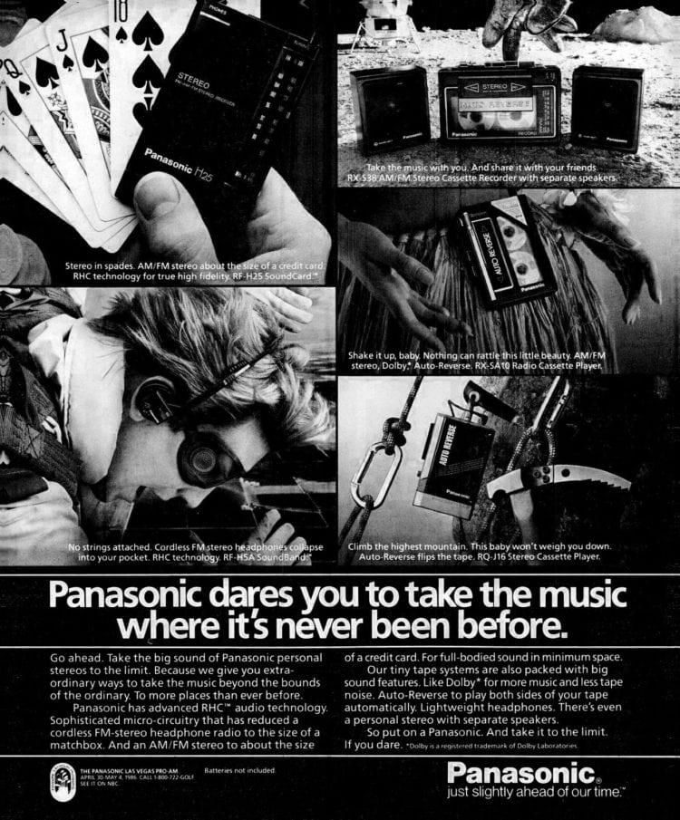 Oct 1985 Panasonic personal stereo