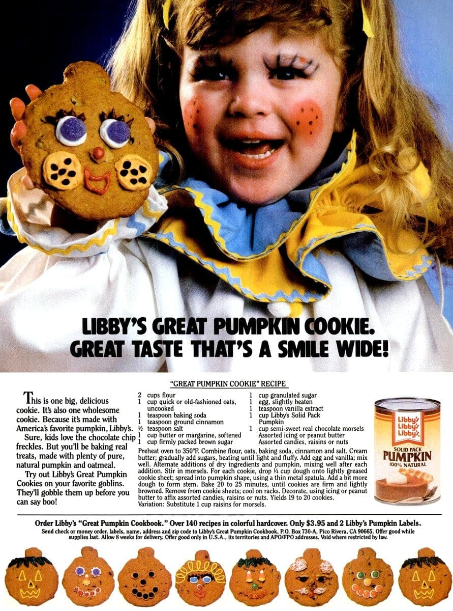 Great Pumpkin cookie recipe (1986)