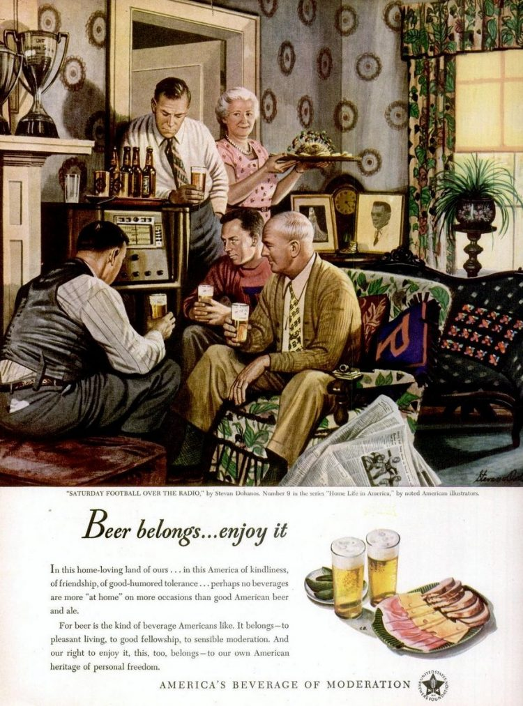 Oct 20, 1947 Beer belongs - enjoy it