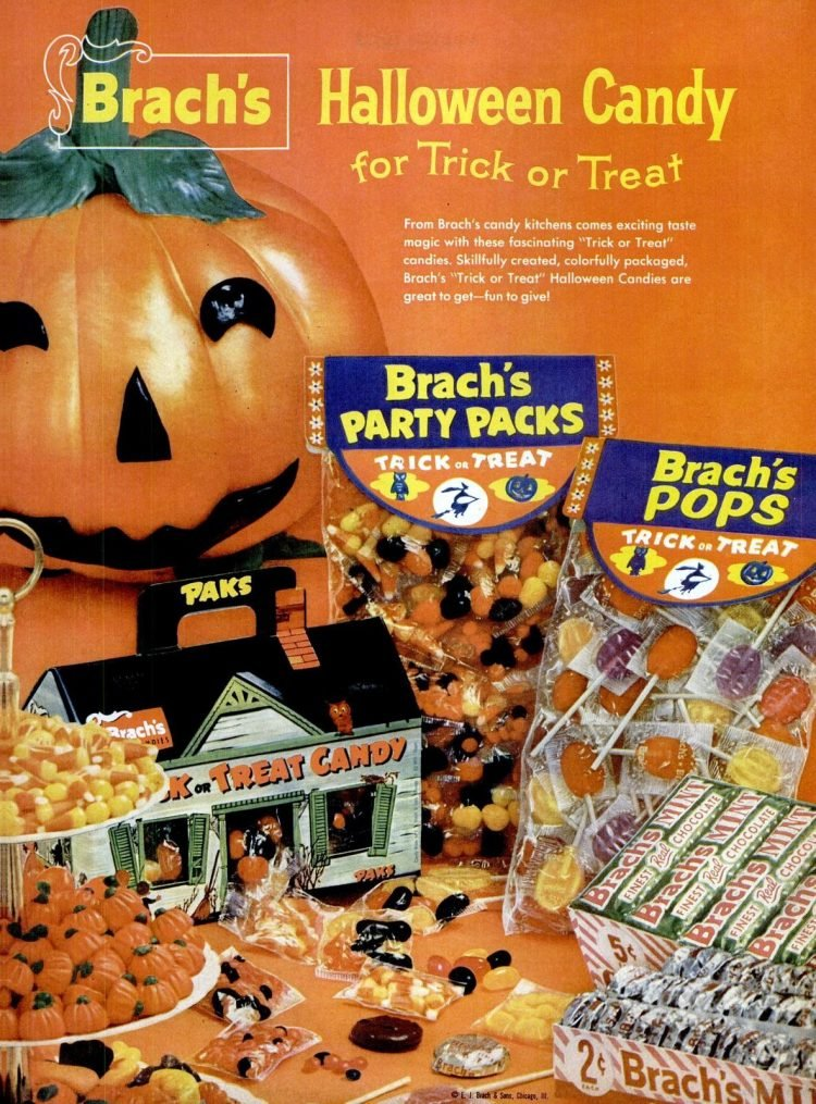 Oct 20, 1958 Brach's party packs for Halloween candy