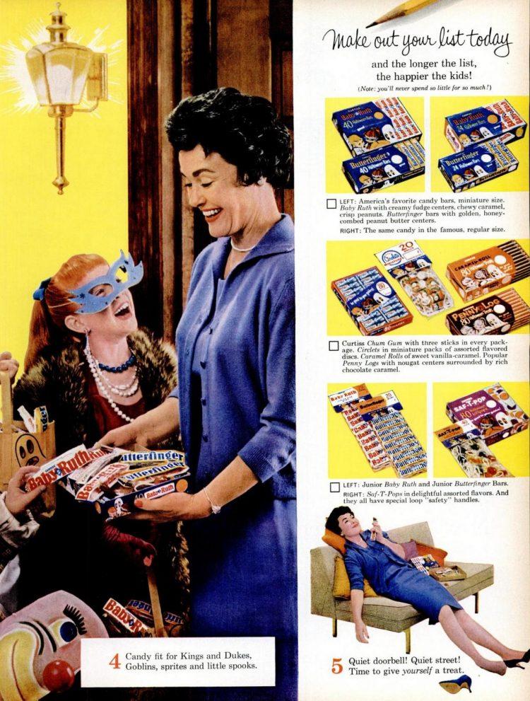 1961 Curtiss Halloween candy