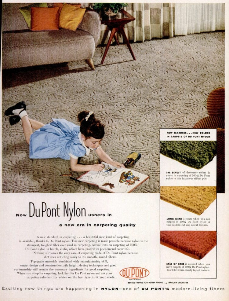 Oct 25, 1954 Nylon carpet
