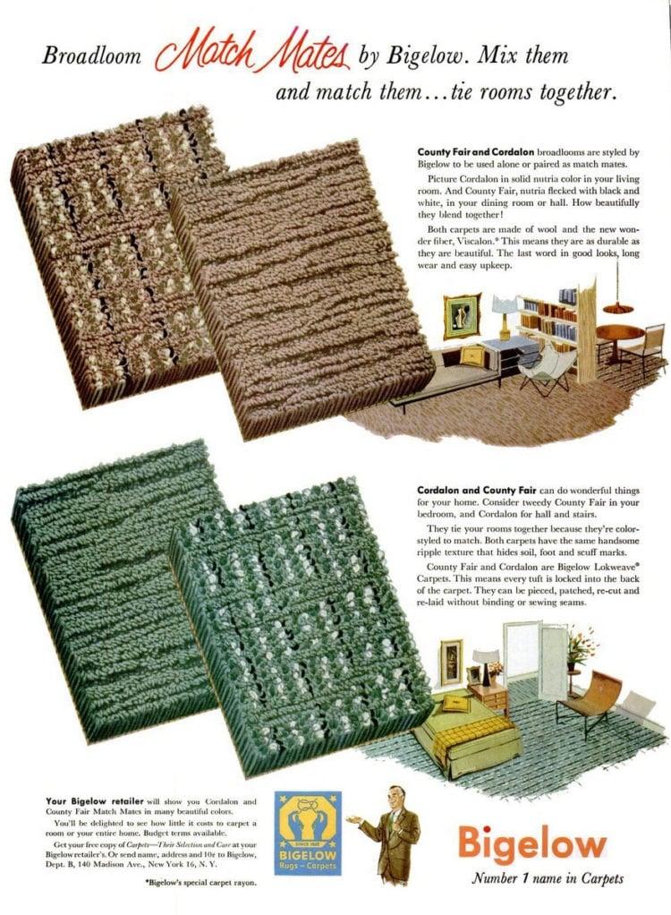 Oct 25, 1954 Vintage carpet - Bigelow