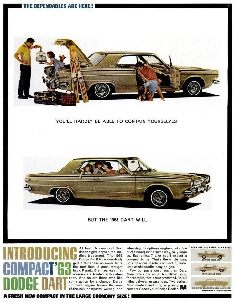 Oct 26, 1962 - Compact '63 Dodge Dart car