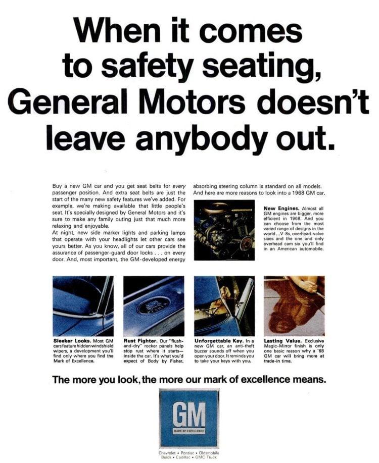 Oct 27, 1967 GM car seat