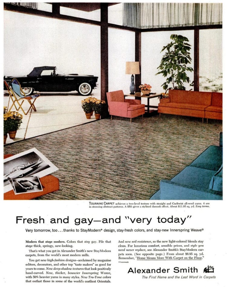 Oct 31, 1955 Home decor carpet